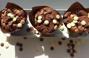 Chocolate Madness Muffins chocolatey deliciousness in every bite! www.feastingisfun.com