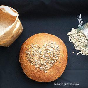 Sunflower Seed Heart Cob Loaf