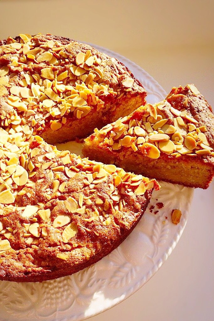 Gluten free sweet fruit and nut bake.