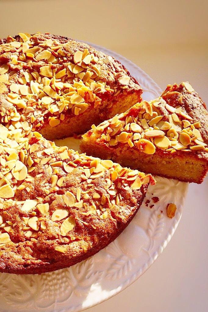 Gluten free sweet fruit and nut bake.