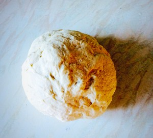 Give the dough a quick knead and then form into a ball.