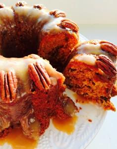 Crazy Caramel Carrot Cake - crazy, good, cake! www.feastingisfun.com