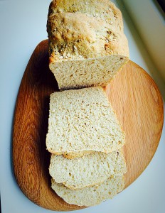Oat Bran White Bread good for you and will keep you fuller for longer www.feastingisfun.com