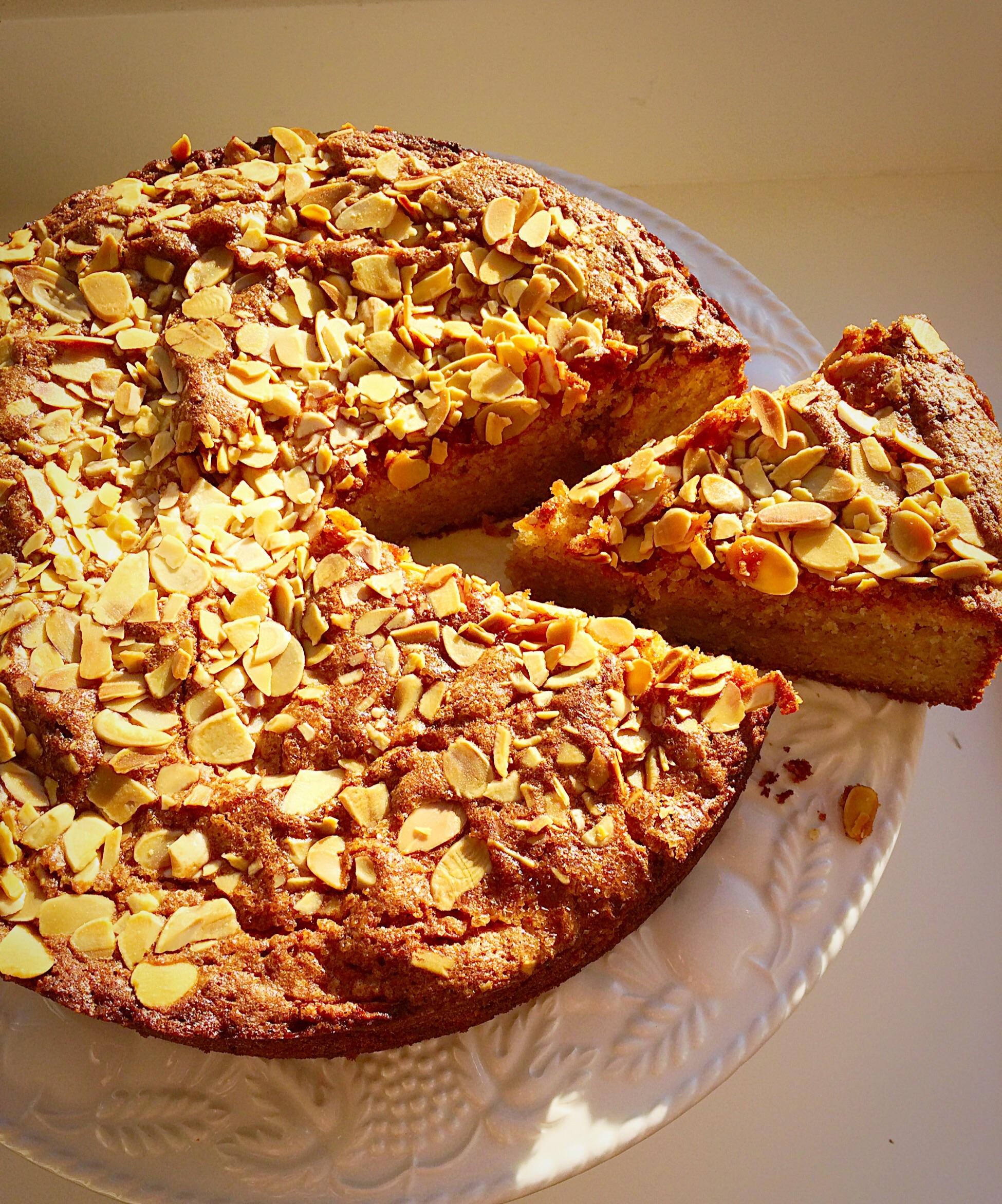Autumn Apple Almond Cake
