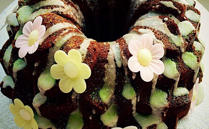 Lime Coconut Blossom Bundt Cake