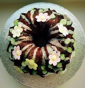 Lime Coconut Blossom Bundt Cake a beautiful birthday cake www.feastingisfun.com