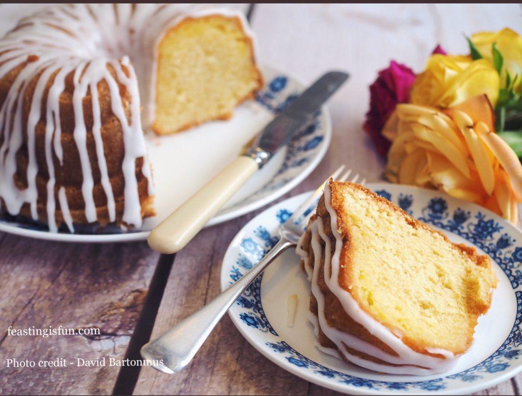 Image showing a cut slice of the Bundt Cake.