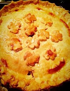 Steak Leek and Ale Pie beautifully golden, light pastry. www.feastingisfun.com