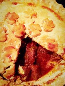 Steak Leek and Ale Pie delicious served with Leek Colcannon www.feastingisfun.com