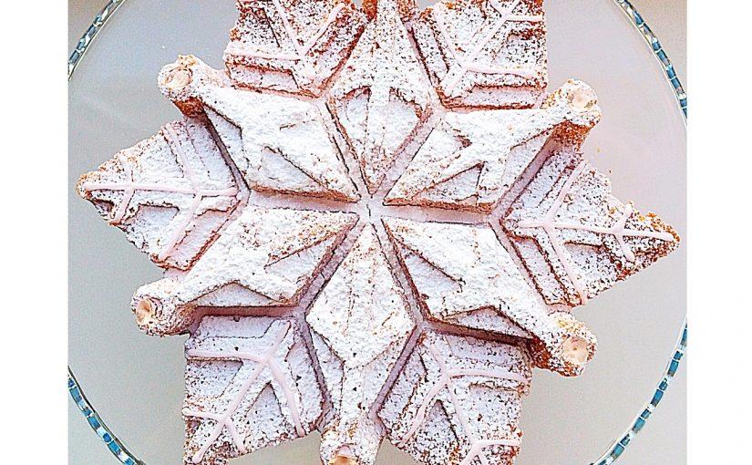 Sparkling Snowflake Cake