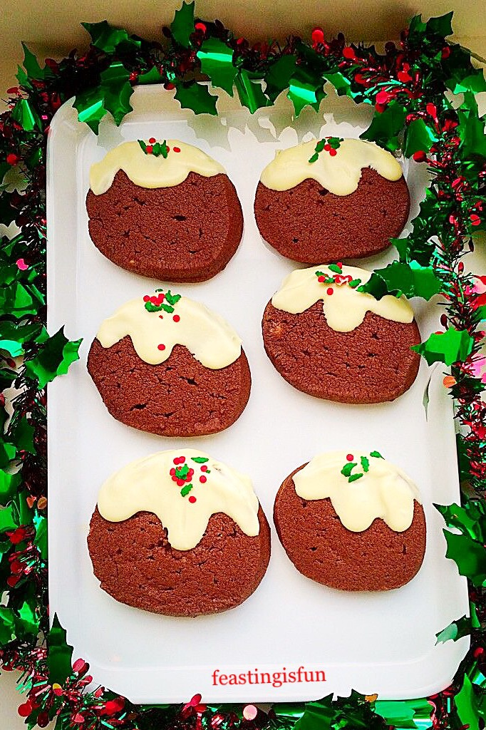 Cocoa flavoured biscuits that look like a traditional festive dessert.