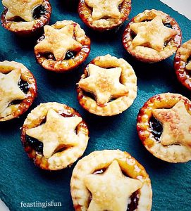 Mini mince pies made with cream cheese pastry.