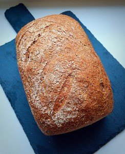 Wholemeal Loaf full of fibre and flavour www.feastingisfun.com