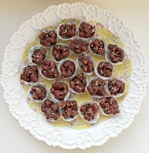 Rocky Road Petit Fours delicious chocolate treats.www.feastingisfun.com