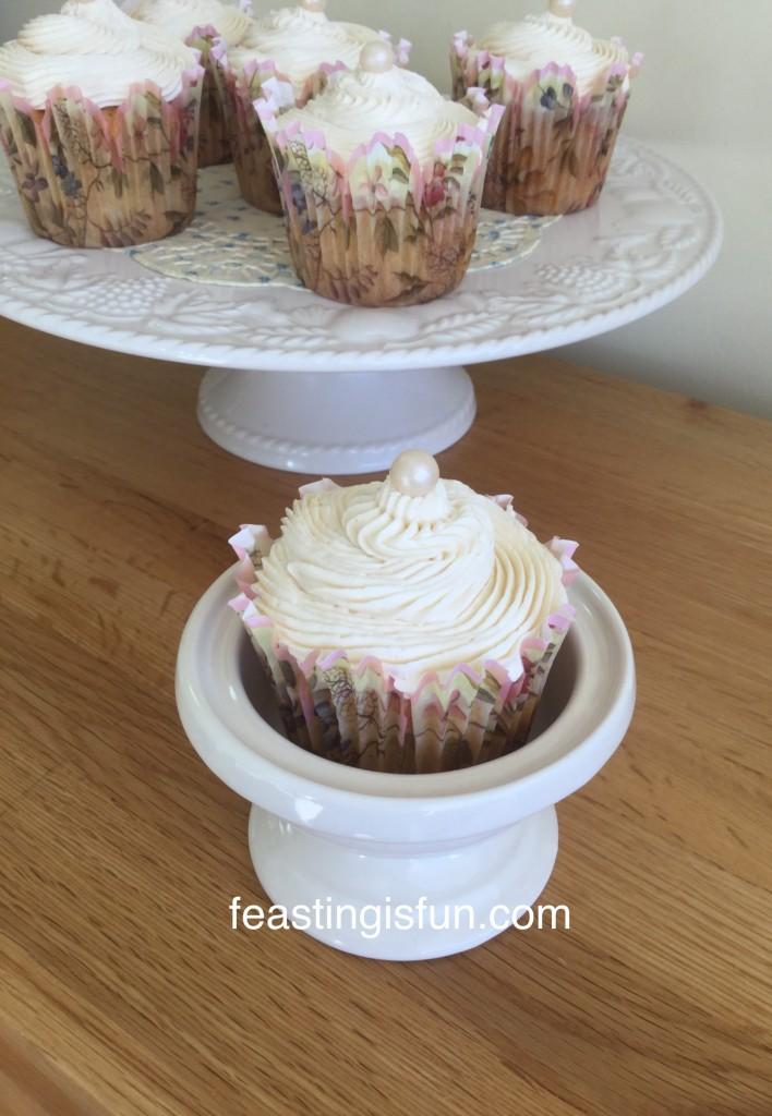 Vanilla Bean Cupcakes individually portioned treats. www.featingisfun.com
