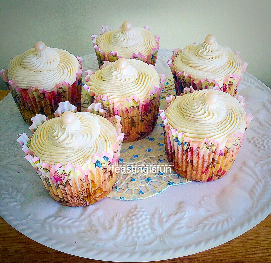 Vanilla Bean Cupcakes perfect for afternoon tea.