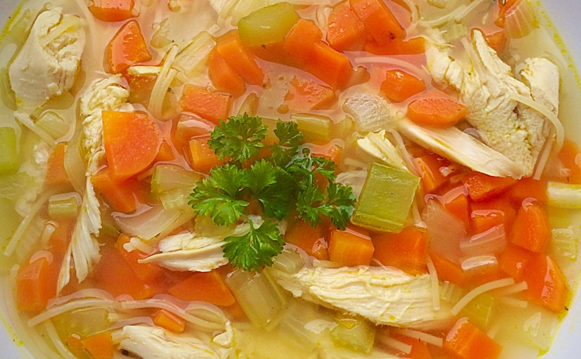 Roast Chicken Noodle Soup