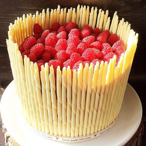 Raspberry lemon celebration layer cake