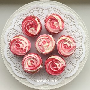 Raspberry Ripple Almond Cupcakes