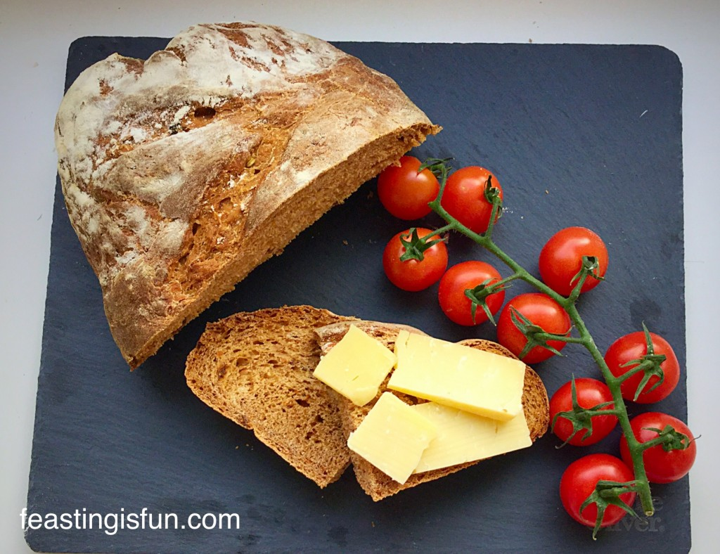 Sundried Tomato Bread with cheese