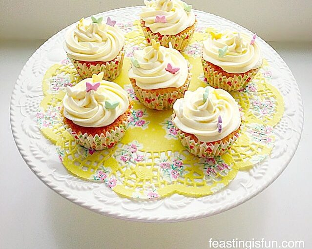 Marshmallow Frosted Mango Cupcakes