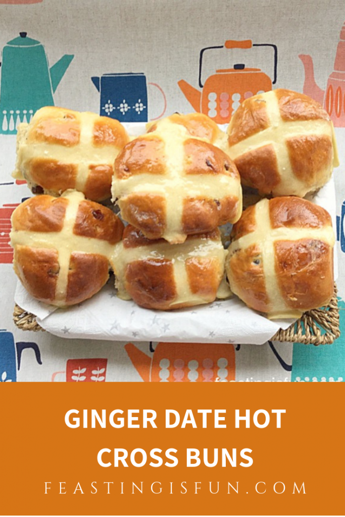 FF Ginger Date Hot Cross Buns