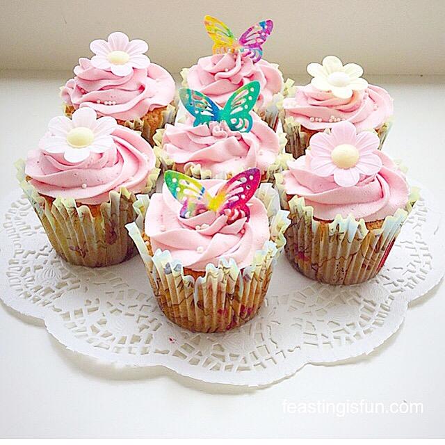 FF Springtime Vanilla Cupcakes