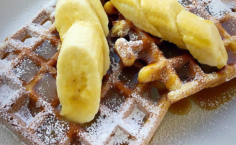 Toffee Banoffee Waffles