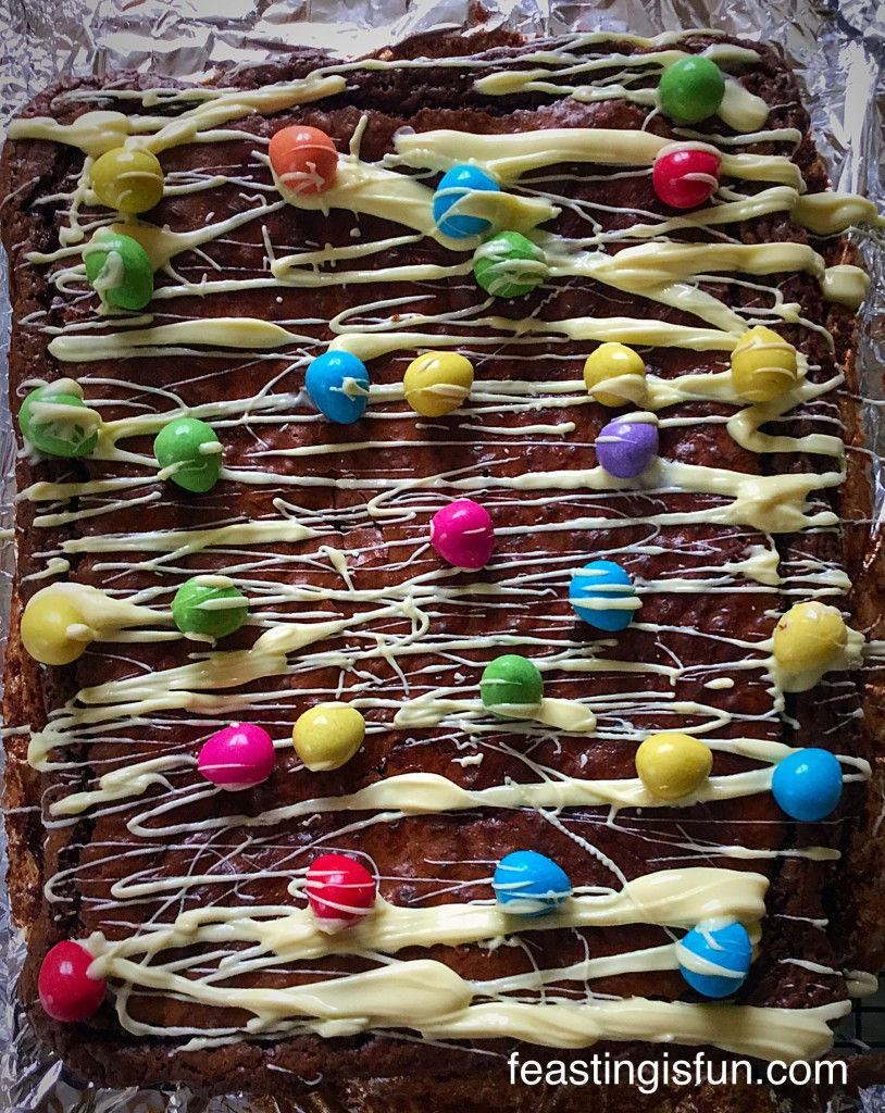 Smartie Chocolate Mini Egg Brownies