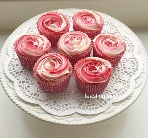 Smartie Raspberry Ripple Almond Cupcakes