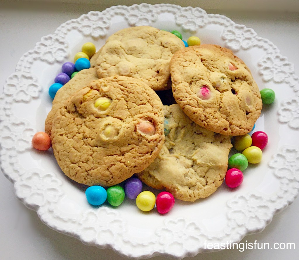 Smartie Chocolate Monster Mini Egg Cookies