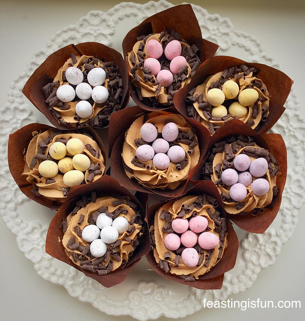 RT Vanilla Mini Egg Nest Cupcakes