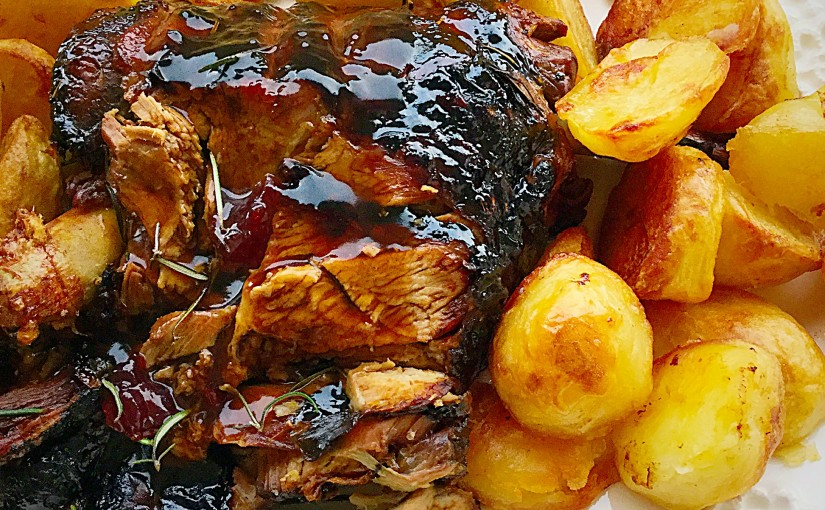 Redcurrant Jelly Glazed Roast Lamb