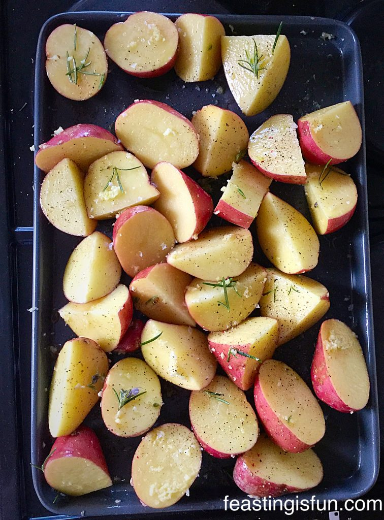 FF Garlic Rosemary Roast Potatoes