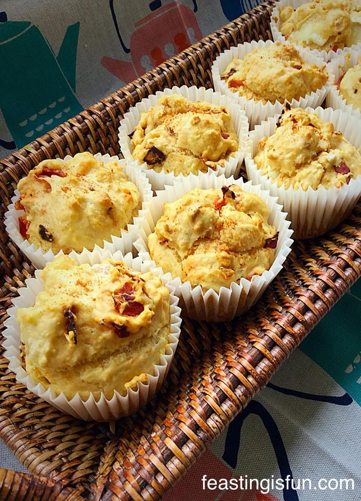FF Chorizo Goats Cheese Muffins
