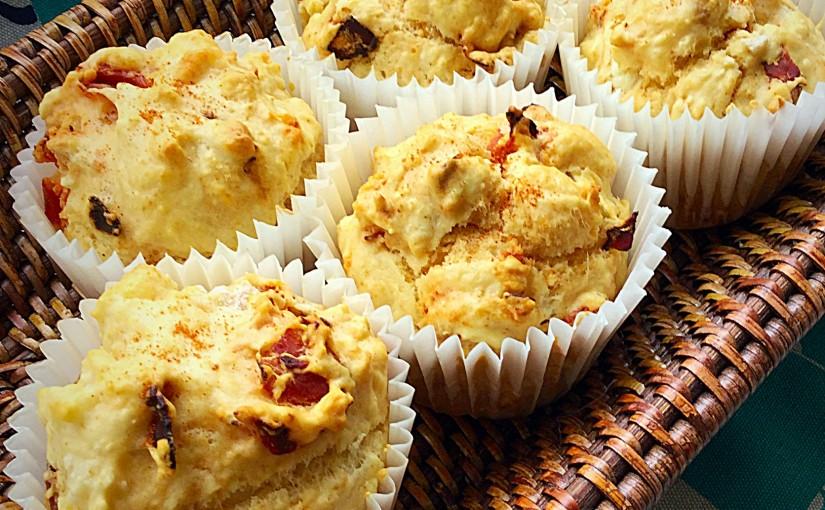Chorizo Goats Cheese Muffins