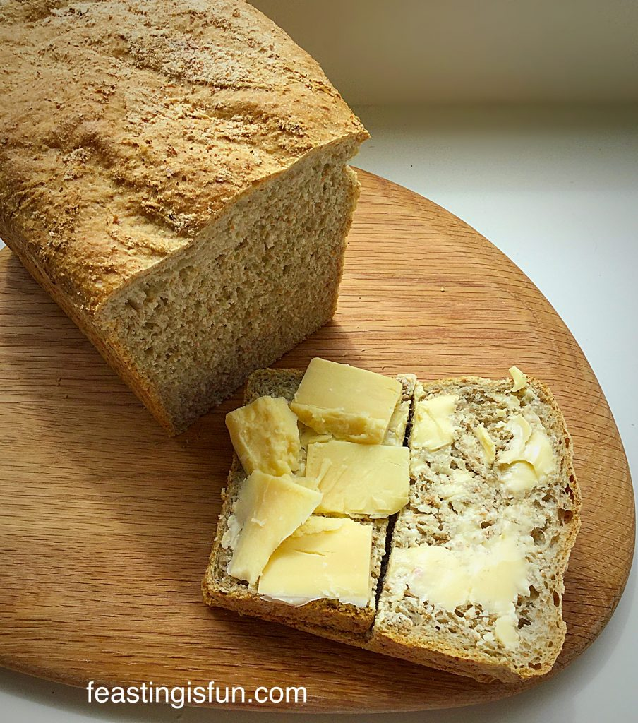 Lighter Wholemeal Loaf just add butter for a delicious feast.