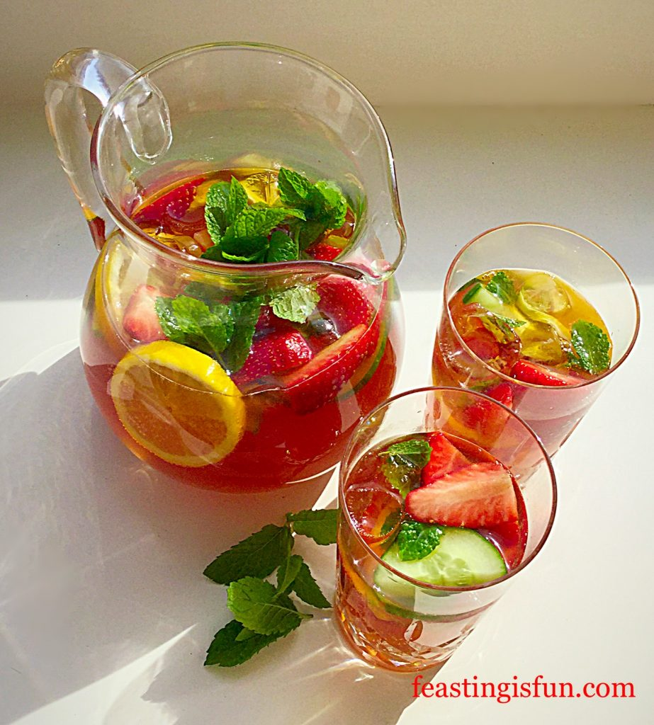 Franklins Fruity Summer Drink making the most of our British Summer.