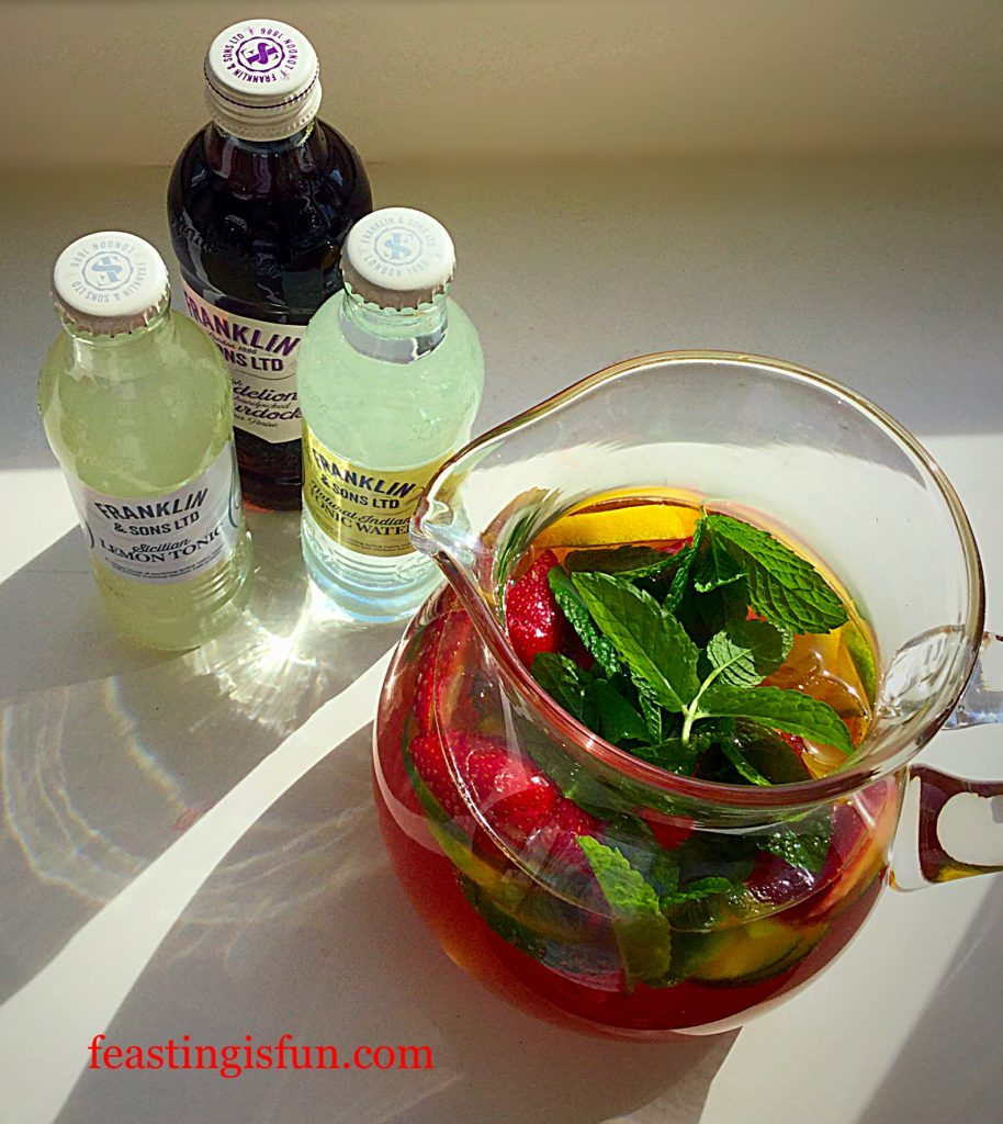 Franklins Fruity Summer Drink it's simple not a summer party without a jug of Franklin's fun.