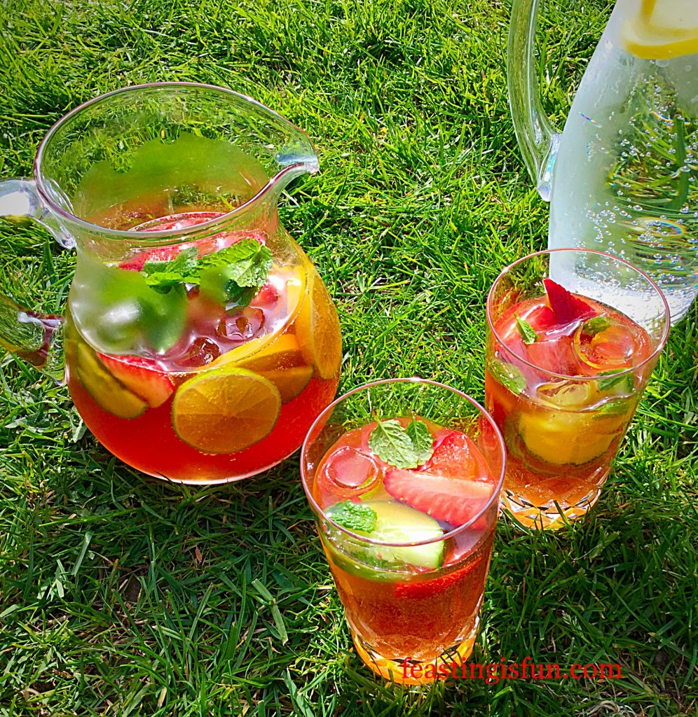 Franklins Fruity Summer Drink serve with sunshine, good company and great food.