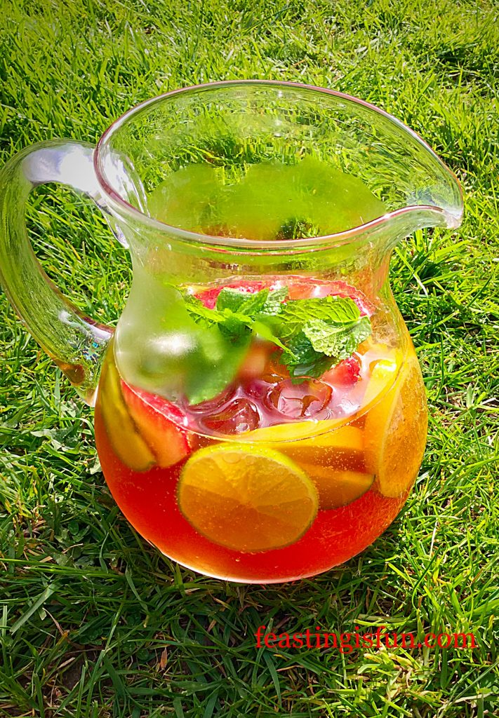 Franklins Fruity Summer Drink serve this and you will be the hostess with the mostest!