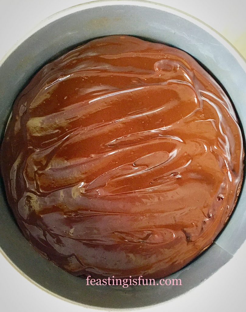 Glossy chocolate ganache not only adds an extra layer of deliciousness, but also stops the brownie base from becoming soggy.