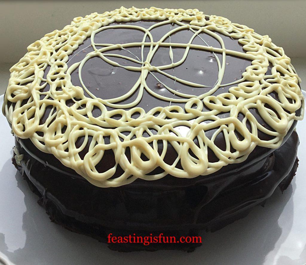 FF White Chocolate Swirl Fudge Cake