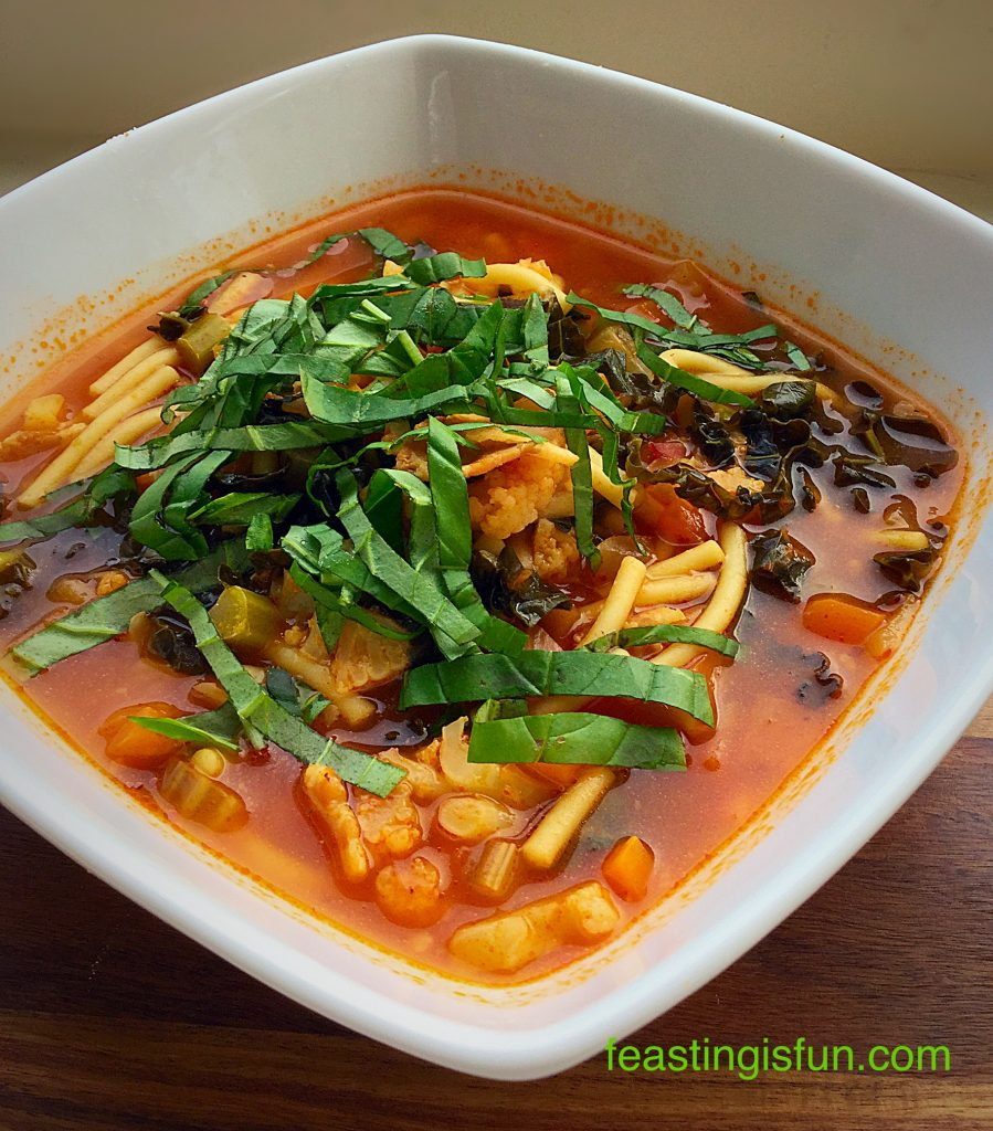 Hearty Minestrone Soup a one pot wonder dish.