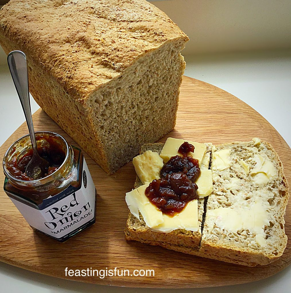 Lighter Wholemeal Loaf easily sliced and perfect for sandwiches.