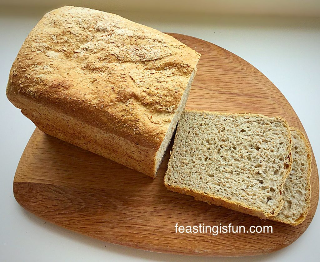 Lighter Wholemeal Bread full of flavour.