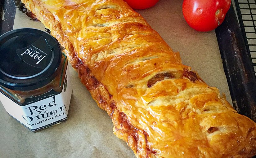 Red Onion Sausage Plait