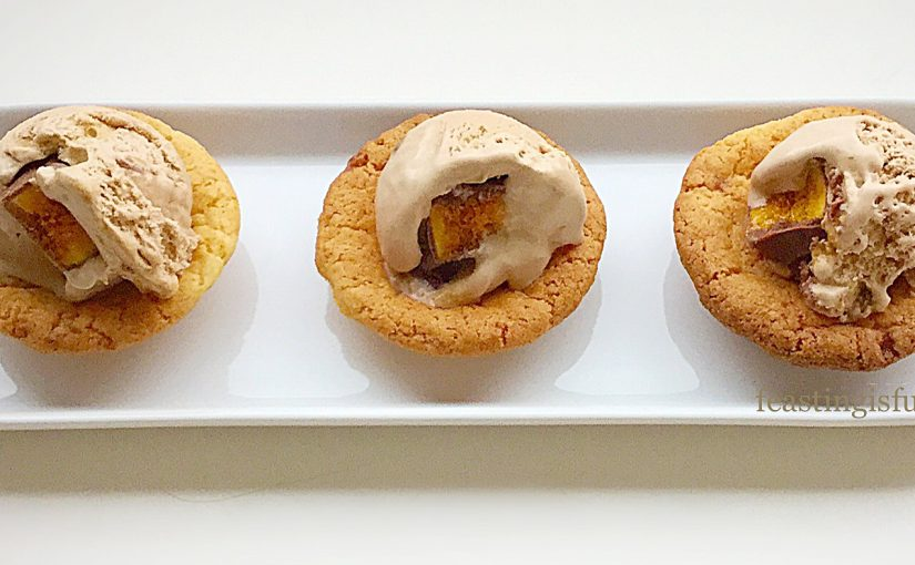 Toffee Cookie Cups