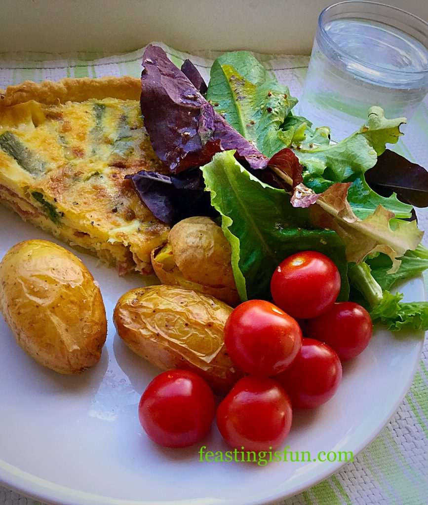 FF Smoked Bacon Asparagus Quiche