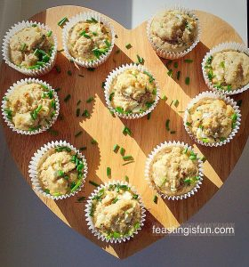 FF Goddess Cheese Pine Nut Muffins